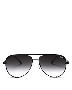 Quay - Women's High Key Brow Bar Aviator Sunglasses, 56mm