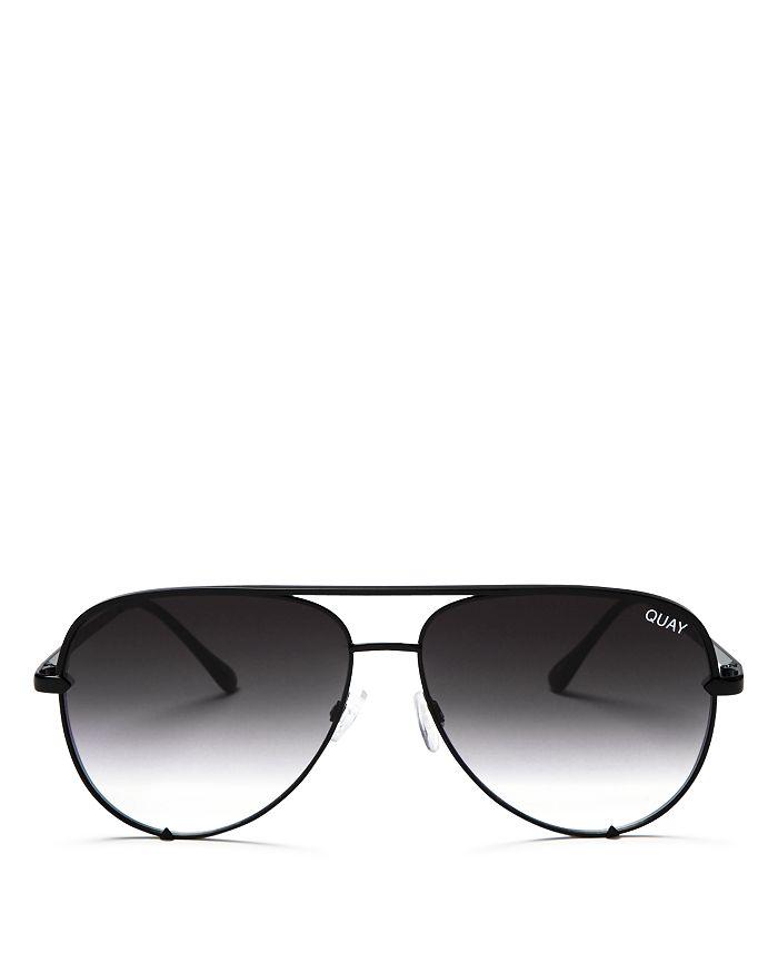 9744ada0770 Quay Quay Women s High Key Brow Bar Aviator Sunglasses