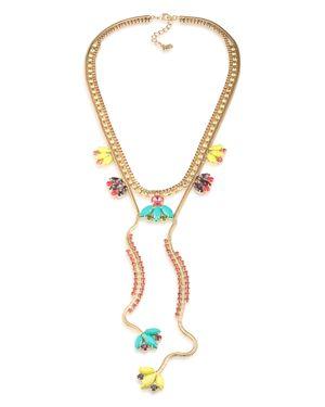 Abs by Allen Schwartz Statement Flower Necklace, 22