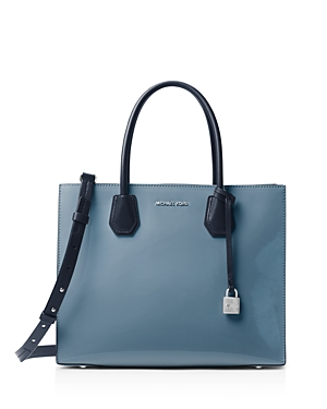 Michael Michael Kors Mercer Color Block Convertible Large Patent Leather Tote