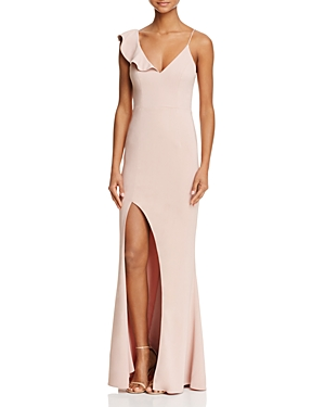 La Maison Talulah Asymmetric Ruffle Gown