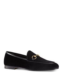 Gucci - Women's Jordan Velvet Loafers
