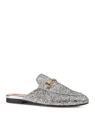 $Gucci Princetown Glitter Mules - Bloomingdale's