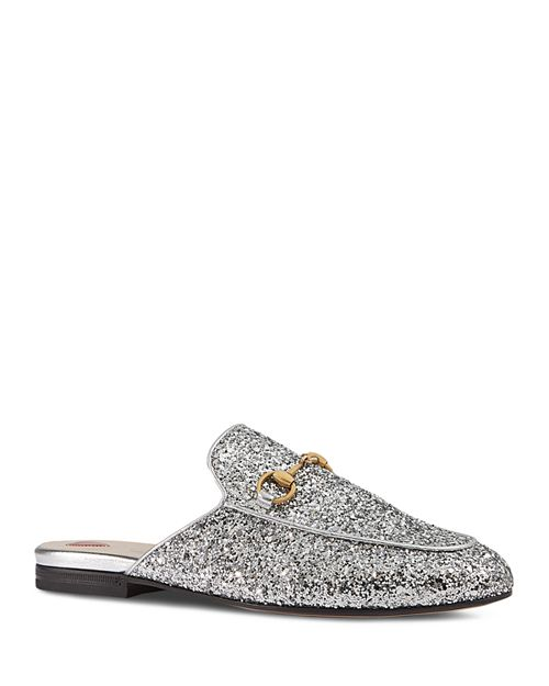 Gucci - Women's Princetown Glitter Mules