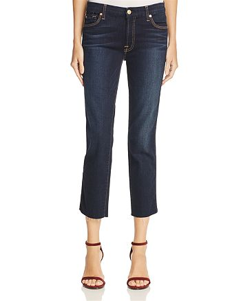 7 For All Mankind - Ankle Straight Jeans in Dark Moonlight – 100% Exclusive