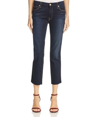7 For All Mankind Ankle Straight Jeans in Dark Moonlight 100% Exclusive 2619587