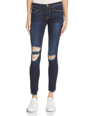 Frame Le Skinny Petal Hem Jeans in Andover - 100% Exclusive