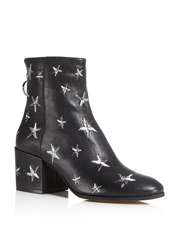 Dolce Vita - Women's Matteo Star Embroidered Leather Booties - 100% Exclusive