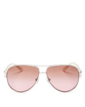 Tory Burch Aviator Sunglasses, 60mm