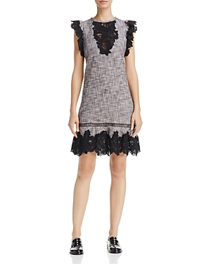 Rebecca Taylor Lace-Trim Dress