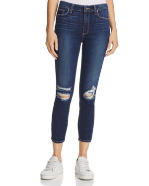 Paige Hoxton Skinny Crop Jeans in Emmett Destructed - 100% Exclusive 2617220