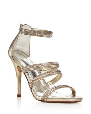 Caparros Immense Metallic Embellished High Heel Sandals