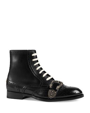 44840621d Gucci Men's Queercore Brogue Boots | Bloomingdale's