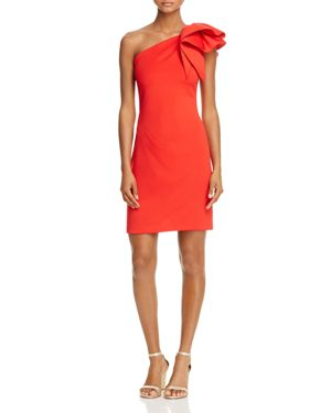 Avery G One-Shoulder Ruffle Cocktail Dress