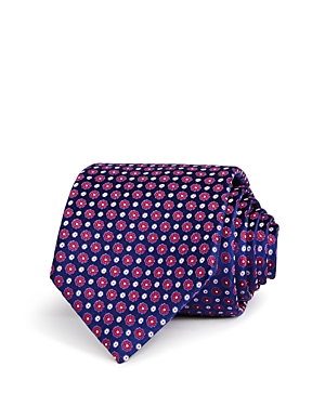 Canali Spaced Flower Dot Classic Tie