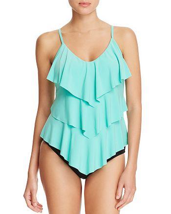 Magicsuit - Solid Rita Tankini Top & Classic Brief Bikini Bottom