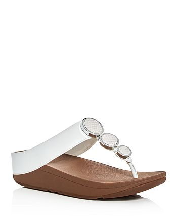 FitFlop - Women's Halo Embellished Platform Thong Sandals