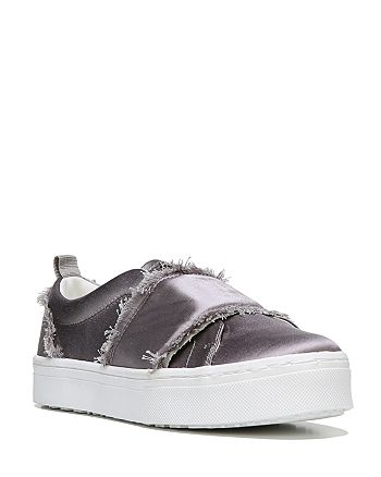a0167da2b Sam Edelman - Women s Levine Frayed Satin Platform Slip-On Sneakers