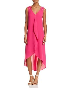 Adrianna Papell High/Low Chiffon Ruffle Dress
