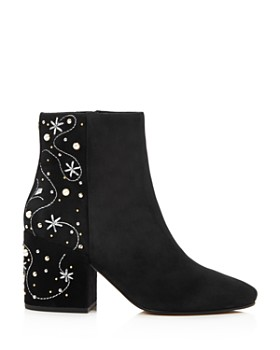 Sam Edelman - Women's Taft Embroidered Pearl Stud Booties - 100% Exclusive