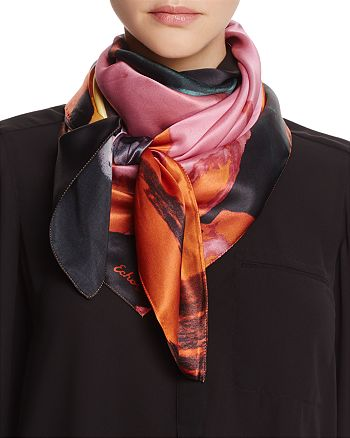 Echo - Paint Spill Silk Square Scarf