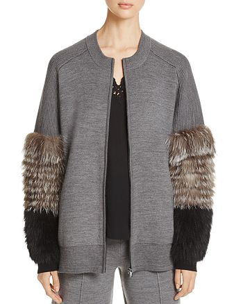 Kobi Halperin - Mariella Fur Sleeve Cardigan - 100% Exclusive