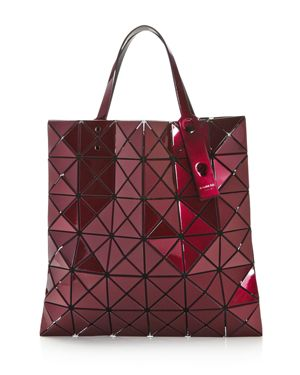 Lucent Metallic Vinyl Tote Bag in Bordeaux