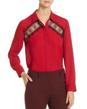 Gerard Darel Baldellia Lace-Inset Shirt - 100% Exclusive