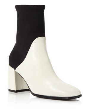 Via Spiga Devon Leather and Stretch Sock Booties - 100% Exclusive