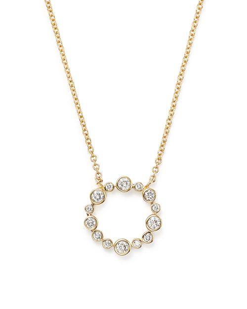 Bloomingdale's - Diamond Open Circle Pendant Necklace in 14K Yellow Gold, .25 ct. t.w. - 100% Exclusive