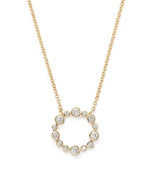 Diamond Open Circle Pendant Necklace in 14K Yellow Gold, .25 ct. t.w. - 100% Exclusive
