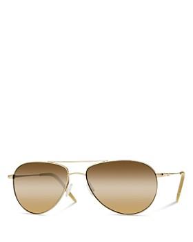 Oliver Peoples - Unisex Benedict Aviator Sunglasses, 59mm