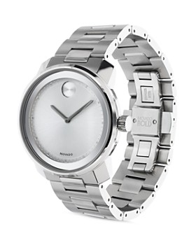 Movado BOLD - Movado BOLD Stainless Steel and Silver Tone Dial Watch, 42.5mm