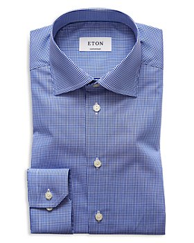 Eton - Contemporary Fit Fine Gingham Check Dress Shirt