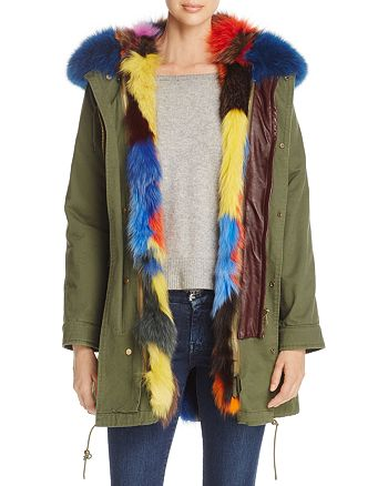 Maximilian Furs - Patchwork Fox Fur Lined Parka - 100% Exclusive