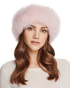 2e652a02 Maximilian Furs - Fox Fur Knit Headband ...