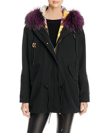 Maximilian Furs - Rabbit Fur & Fox Fur Hooded Parka - 100% Exclusive