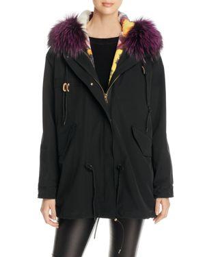 Maximilian Furs Rabbit Fur & Fox Fur Hooded Parka - 100% Exclusive