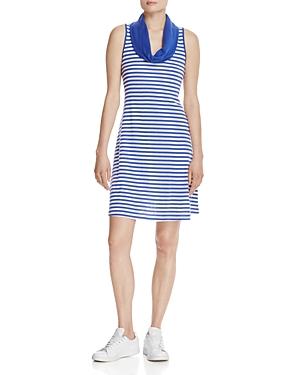 Three Dots Cowl Neck Stripe Dress