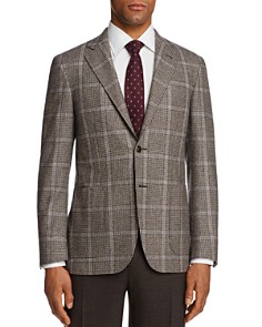 Canali - Kei Houndstooth with Windowpane Classic Fit Sport Coat