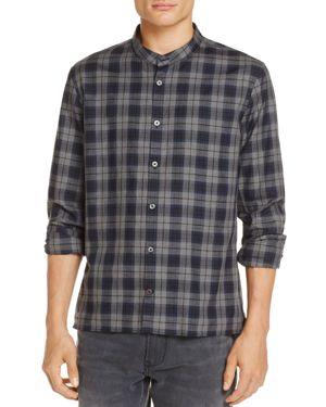 John Varvatos Star Usa Banded-Collar Plaid Button-Down Shirt - 100% Exclusive