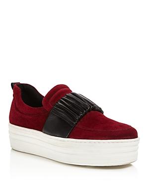 Daniella Lehavi Women's Boston Suede Platform Slip-On Sneakers