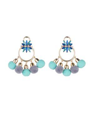 Abs by Allen Schwartz Pom-Pom Chandelier Earrings, $52.5