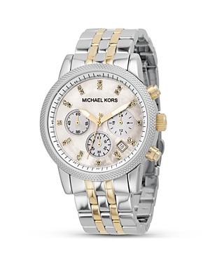 Michael Kors Women's Chronograph Two-Tone Bracelet Watch, 36.5 Mm