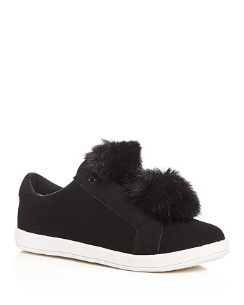 442efee338ea95 Sam Edelman Girls  Cynthia Leya Faux Fur Pom-Pom Slip-On Sneakers ...
