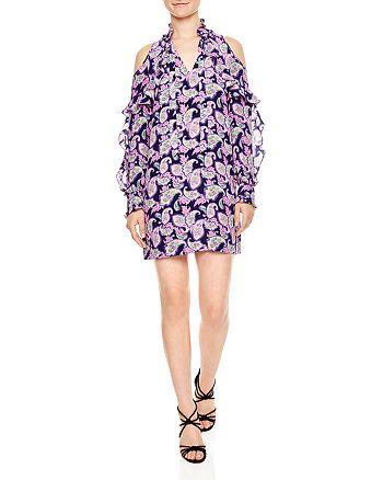 Sandro - Emiko Ruffle Cold-Shoulder Dress