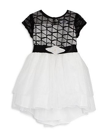US Angels - Girls' Embellished Ribbon Dress, Little Kid - 100% Exclusive