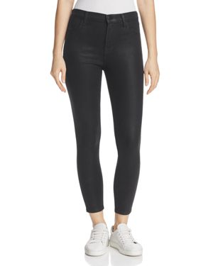 J Brand Alana Coated High Rise Crop Jeans in Fearless