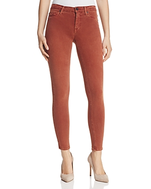 Hudson Nico Mid Rise Ankle Super Skinny Jeans in Sepia