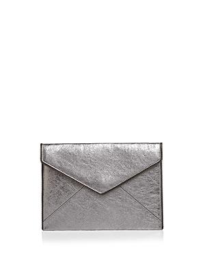 Rebecca Minkoff Leo Metallic Leather Clutch